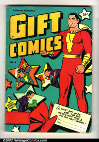 Gift Comics #4 (Fawcett, 1949) VG+. Contains Captain Marvel Adventures #80 (Key book, Origin of Captain Marvel retold)...