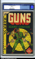 Golden Age (1938-1955):Crime, Guns Against Gansters #1 (Novelty Press, 1948) CGC FN- 5.5 Cream to off-white pages. L.B. Cole cover, Alex Schomburg art. Ov...