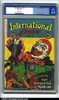 Golden Age (1938-1955):Crime, International Comics #4 (EC, 1947). CGC FN+ 6.5 Off-white pages. Overstreet 2002 FN 6.0 value = $120....