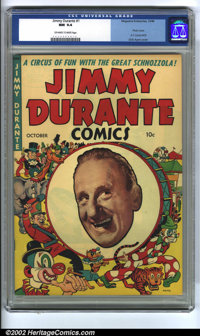 Jimmy Durante #1 (Magazine Enterprises, 1948) CGC NM 9.4 Off-white to white pages. This great cover is part Dick Ayers a...