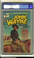 Golden Age (1938-1955):Western, John Wayne Adventure Comics #1 (Toby Publishing, 1949) CGC VF 8.0White pages. Nice photo cover of the Duke. Overstreet 2002...