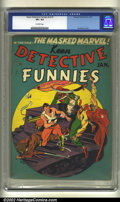 Golden Age (1938-1955):Superhero, Keen Detective Funnies v3#1 (Centaur, 1940) CGC VF+ 8.5 Off-white pages. Overstreet 2002 VF 8.0 value = $426....