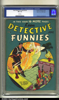 Keen Detective Funnies v2#6 Mile High pedigree (Centaur, 1939) CGC FN+ 6.5 White pages. Gustavson and Everett art. Overs...