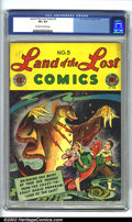 Golden Age (1938-1955):Funny Animal, Land of the Lost #5 (EC, 1947). CGC VF+ 8.5 Off-white to whitepages. Overstreet 2002 VF 8.0 value = $105....