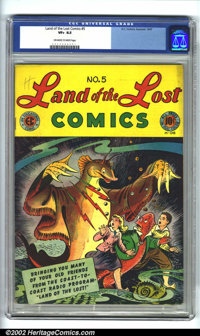 Land of the Lost #5 (EC, 1947). CGC VF+ 8.5 Off-white to white pages. Overstreet 2002 VF 8.0 value = $105