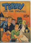 Golden Age (1938-1955):Adventure, Large Feature Comic #2 (Dell, 1939). Terry and the Pirates #1. VG+ cream to off-white pages. Overstreet 2002 GD 2.0 value = ...
