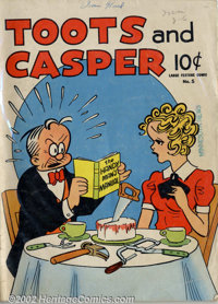 Large Feature Comic v2 #5 (Dell, 1942). Toots and Casper only issue. VG- off-white to white pages. Overstreet 2002 GD 2...