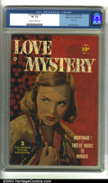 Golden Age (1938-1955):Romance, Love Mystery #2 Mile High pedigree (Fawcett, 1950) CGC VF- 7.5Off-white to white pages. Cool photo cover and George Evans a...