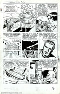 Original Comic Art:Panel Pages, Jack Kirby - Original Art for The Fantastic Four #14, Page 10(Marvel, 1962). The FF try to subdue the Sub-Mariner, who is i...