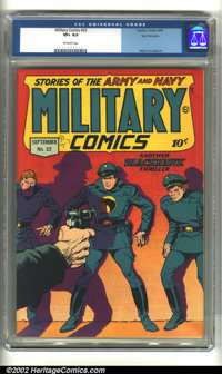 Military Comics #22 San Francisco pedigree (Quality, 1943) CGC VF+ 8.5 Off-white pages. Reed Crandall artwork. Overstree...
