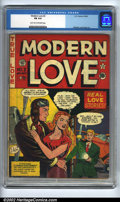 Golden Age (1938-1955):Romance, Modern Love #2 (EC, 1949). CGC FN 6.0 Light tan to off-white pages.Feldstein cover and art. Overstreet 2002 FN 6.0 value = ...