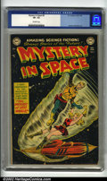 Golden Age (1938-1955):Science Fiction, Mystery in Space #5 (DC, 1952) CGC VF- 7.5 Off-white pages. Overstreet 2002 VF 8.0 value = $478....