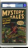 Golden Age (1938-1955):Horror, Mystery Tales #1 (Atlas, 1952) CGC VF 8.0 Off-white pages. Awesomepre-code horror. Overstreet 2002 VF 8.0 value = $525....