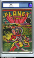 Golden Age (1938-1955):Science Fiction, Planet Comics #2 (Fiction House, 1940) CGC VG 4.0 Cream tooff-white pages. Classic Lou Fine cover. Overstreet lists thisbo...