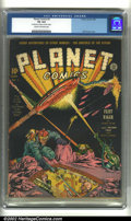Golden Age (1938-1955):Superhero, Planet Comics #3 (Fiction House, 1940) CGC VG 4.0 Cream tooff-white pages. Will Eisner cover. Overstreet 2002 GD 2.0 value...