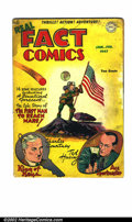 Golden Age (1938-1955):Non-Fiction, Real Fact Comics #6 (DC, 1947). Origin and first appearance ofTommy Tomorrow. First ever writing by Harlan Ellison. GD off-...