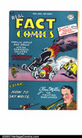Golden Age (1938-1955):Non-Fiction, Real Fact Comics #9 (DC, 1947). FN+ off-white to white pages.Overstreet 2002 FN 6.0 value = $90....