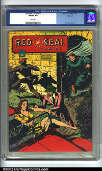 Red Seal Comics #17 Big Apple pedigree (Chesler, 1946) CGC FN/VF 7.0 White pages. Overstreet 2002 FN 6.0 value = $142; V...