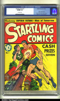 Golden Age (1938-1955):Superhero, Startling Comics #1 (Better Publications, 1940). CGC VF/NM 9.0 Off-white pages. Origin of Captain Future; Masked Rider begin...