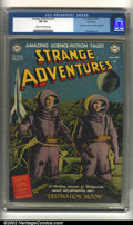 """Golden Age (1938-1955):Science Fiction, Strange Adventures #1 Windy City pedigree (DC, 1950) CGC FN 6.0Cream to off-white pages. """"Destination Moon"""" movie adaptatio..."""