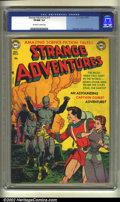 Golden Age (1938-1955):Science Fiction, Strange Adventures #13 (DC, 1951) CGC VF/NM 9.0 Off-white to whitepages. Infantino, Toth and Kane art. Overstreet 2002 VF 8...