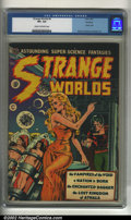 Golden Age (1938-1955):Science Fiction, Strange Worlds #4 Rockford pedigree (Avon, 1951). CGC VF+ 8.5 Creamto off-white pages. Classic cover. Wally Wood, Joe Orlan...