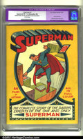 Superman #1 (DC, 1939) CGC Apparent VF- 7.5 Extensive (P) Off-white pages. This incredible book is very bright and clean...