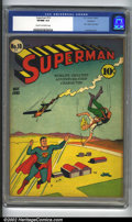 """Golden Age (1938-1955):Superhero, Superman #10 Rockford pedigree (DC, 1941) CGC VF/NM 9.0 Cream to off-white pages. First """"bald"""" Lex Luthor. Overstreet 2002 N..."""