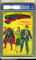 Golden Age (1938-1955):Superhero, Superman #30 (DC, 1944) CGC VF- 7.5 Off-white to white pages. Origin and first appearance Mr. Mxyztplk. Overstreet 2002 VF 8...