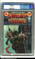 Bronze Age (1970-1979):Horror, Swamp Thing #2 (DC, 1973). Condition: CGC VF/NM 9.0, off-white towhite pages. Overstreet 2001 NM 9.4 value = $45....