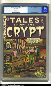 Tales From the Crypt #25 Gaines File pedigree 7/12 (EC, 1951). CGC NM+ 9.6 Off-white pages. Overstreet 2002 NM 9.4 value...