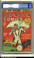 Golden Age (1938-1955):Superhero, Top-Notch Comics #1 (MLJ, 1939) CGC VF 8.0 Off-white pages. Origin and first appearance of the Wizard. Jack Cole art. Overst...