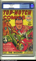 Golden Age (1938-1955):War, Top-Notch Comics #2 (MLJ, 1940) CGC VF+ 8.5 Off-white pages. First comicbook Nazi/Swastika cover. Jack Cole and Mort Meskin ...