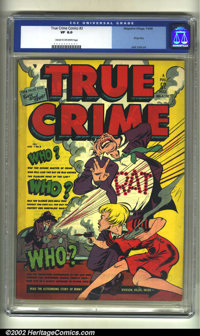 True Crime Comics #3 (Magazine Village, 1948) CGC VF 8.0 Cream to off-white pages. Classic Jack Cole cover and art. This...