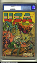 Golden Age (1938-1955):Superhero, U.S.A Comics #1 (Timely, 1941). CGC FN/VF 7.0 Cream to off-white pages. Origin of Major Liberty. Rockman, Whizzer, Defender,...