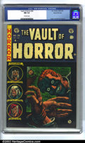 Golden Age (1938-1955):Horror, Vault of Horror #34 Gaines File pedigree 4/12 (EC, 1954). CGC NM9.4 Off-white pages. Overstreet 2002 NM 9.4 value = $335. ...