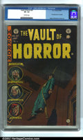 Golden Age (1938-1955):Horror, Vault of Horror #37 (EC, 1954). CGC VF- 7.5 Off-white pages.Overstreet 2002 VF 8.0 value = $189....