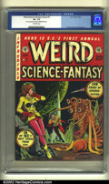 Golden Age (1938-1955):Science Fiction, Weird Science-Fantasy Annual #1 (EC, 1952) CGC VF- 7.5 Off-whitepages. Offered here is an incredibly rare, high-grade EC an...