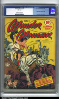 Wonder Woman #1 (DC, 1942) CGC VF 8.0 Off-white to white pages. This hard to find key is an incredibly high-grade copy...