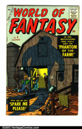 Golden Age (1938-1955):Science Fiction, World Of Fantasy #9 (Atlas, 1957) Condition: FN+. Scarce AtlasSci-Fi issue. Overstreet 2002 FN 6.0 value = $66....