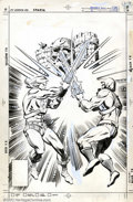 Original Comic Art:Covers, George Tuska and Klaus Janson - Cover Artwork to Masters of theUniverse #3 (DC, 1982). He-Man vs. Skeletor in this early-'8...