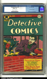 Detective Comics #109 (DC, 1946) CGC FN/VF 7.0 Off-white to white pages. Joker cover and story. Joe Simon and Jack Kirby...