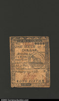 Colonial Notes:Continental Congress Issues, February 17, 1776, $1/6, Continental Congress Issue, CC-19, VF-...