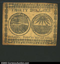 Colonial Notes:Continental Congress Issues, November 2, 1776, $30, Continental Congress Issue, CC-54, CU. ...