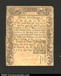Colonial Notes:Connecticut, March 1, 1780, 5s, Connecticut, CT-222, XF. This note is ...