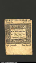 Colonial Notes:Connecticut, June 1, 1780, 1s/3d, Connecticut, CT-227, VF, CC. This cancelle...
