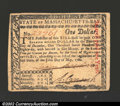 Colonial Notes:Massachusetts, May 5, 1780, $1, Massachusetts, MA-278, XF. A well margined ...