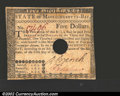Colonial Notes:Massachusetts, May 5, 1780, $5, Massachusetts, MA-282, AU. A nice high grade ...