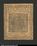 Colonial Notes:Pennsylvania, March 20, 1771, 10s, Pennsylvania, PA-147, XF. Plate A. ...