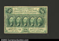 Fractional Currency:First Issue, First Issue 50c, Fr-1312, VF-XF. Straight edge with monogram ...
